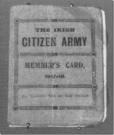 Citizen Army members card