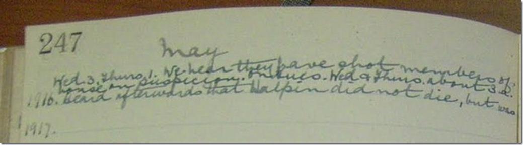 Lynn Diary 3rd May 1916