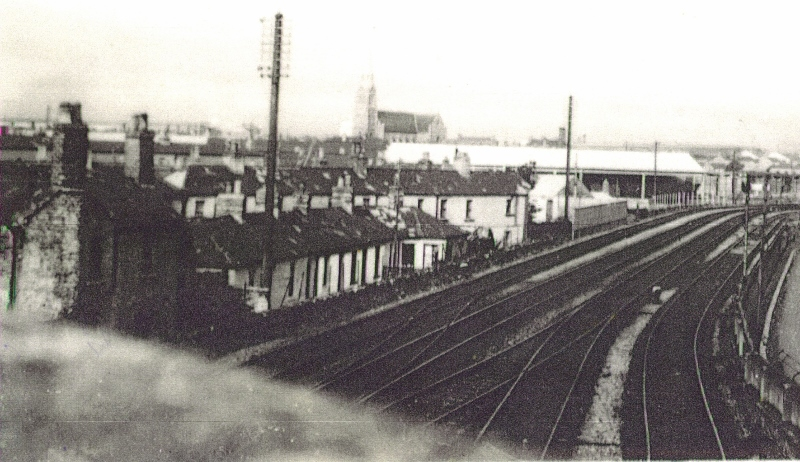 Rail-lines, with Laurence O'Toole's in distance