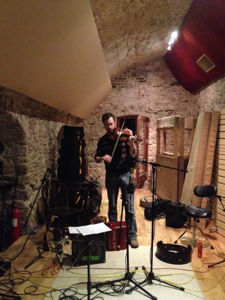 Recording at Hellfire studios, Dublin