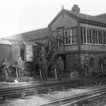 Troops below Spencer Dock Bridge 1911 Rail Strike