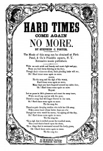 Stephen Foster song sheet