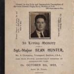 01 Sean Hunter memorial card