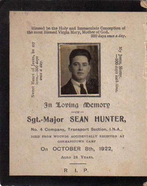 01 Sean Hunter memorial card