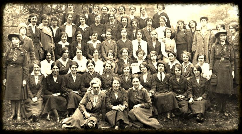 The women of 1916 , Kathleen Lynn and her life long companion Madeleine ffrench Mullen at the front.
