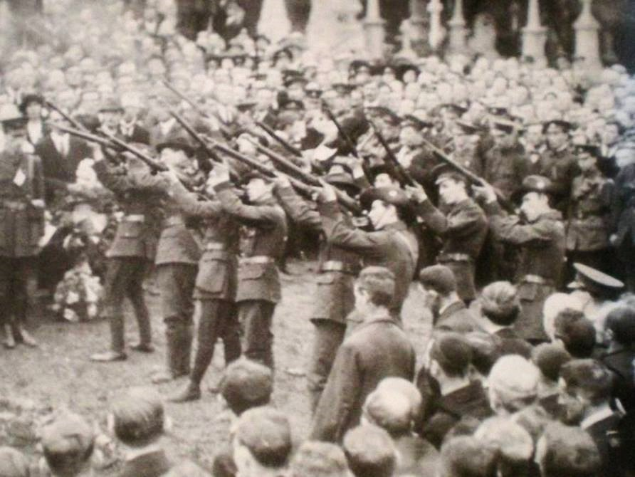Firing party at Thomas Ashe funeral