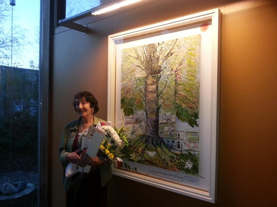 Eilish Lynch with her painting