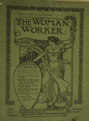 Paper produced by the NFWW