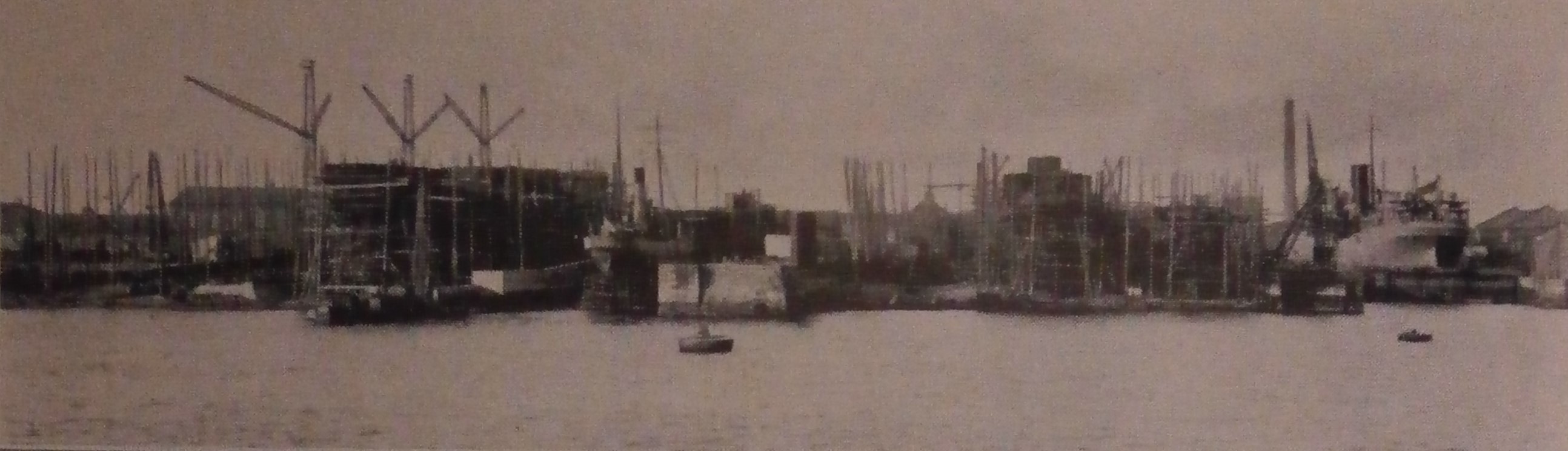 The Dublin Dockyard shipbuilders - with steamer in Graving dock