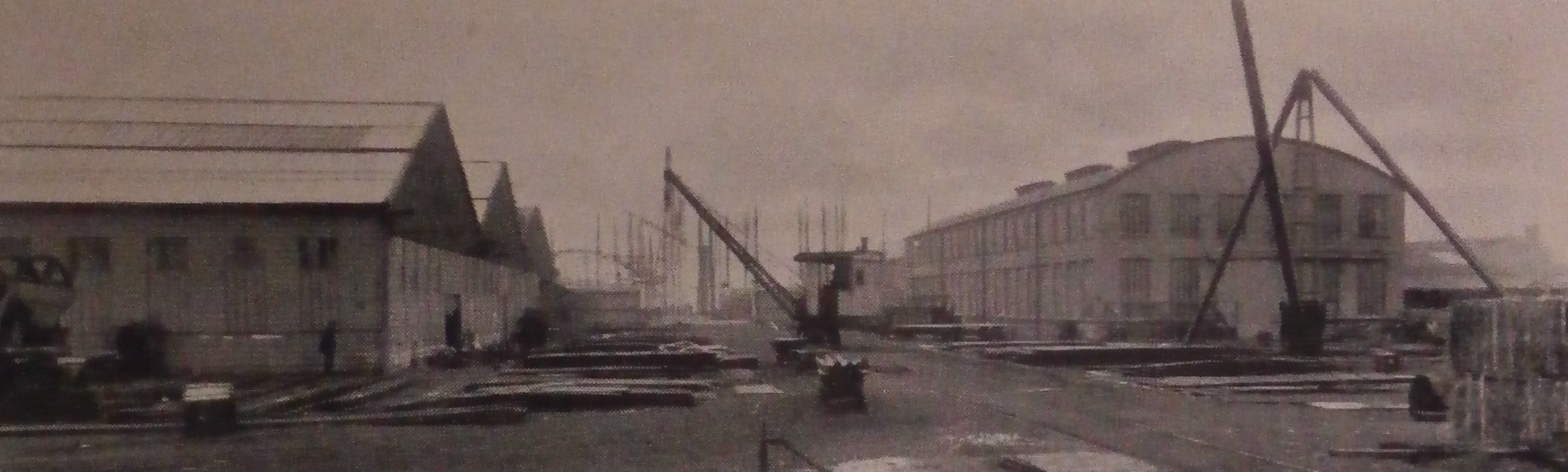 Shipyard - looking towards Alexandra Basin .