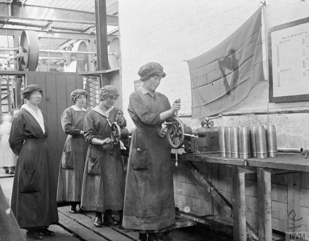 A harp flag can be seen here at National Shell Factory Parkgate Street