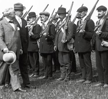 John Redmond inspecting Volunteers
