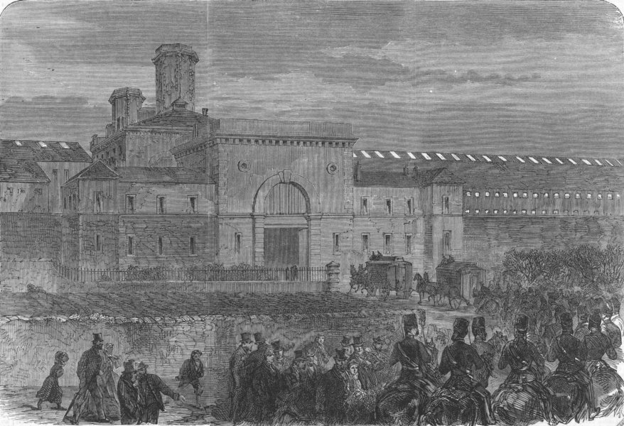 Fenian prisoners being brought to Mountjoy        ( Illustrated London News)