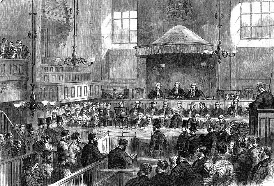 The three men at the Special Commission Court  (London Illustrated News)