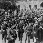 1915 - 7th Battalion Royal DublinFusiliers leave the Royal Barracks ( Now Collins Barracks)