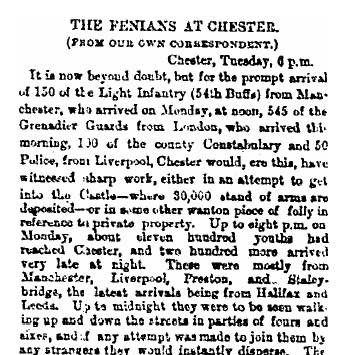 Fenians at Chester 1867_