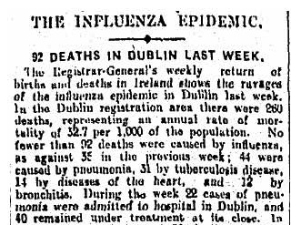 Death rate from Influenza - just one week in July of 1918