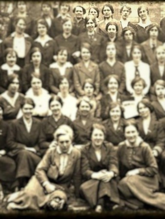 Back row, from right to left is Christine Caffrey, Brigid Davis, Maire Ryan and Rosie Hackett (partly obscured).