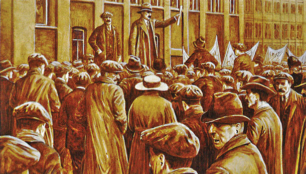 James Connolly in Belfast ( Illustration: Sean O'Brogain )