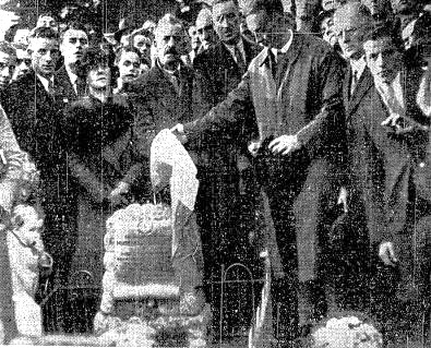 George Plunkett at unveiling 1936.