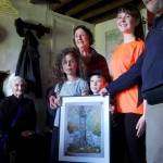 Presenting 1919 painting to 'Friends of Glenmalure'