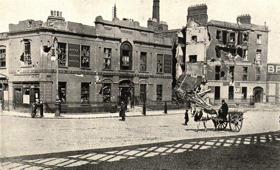 Damages at Liberty Hall 1916