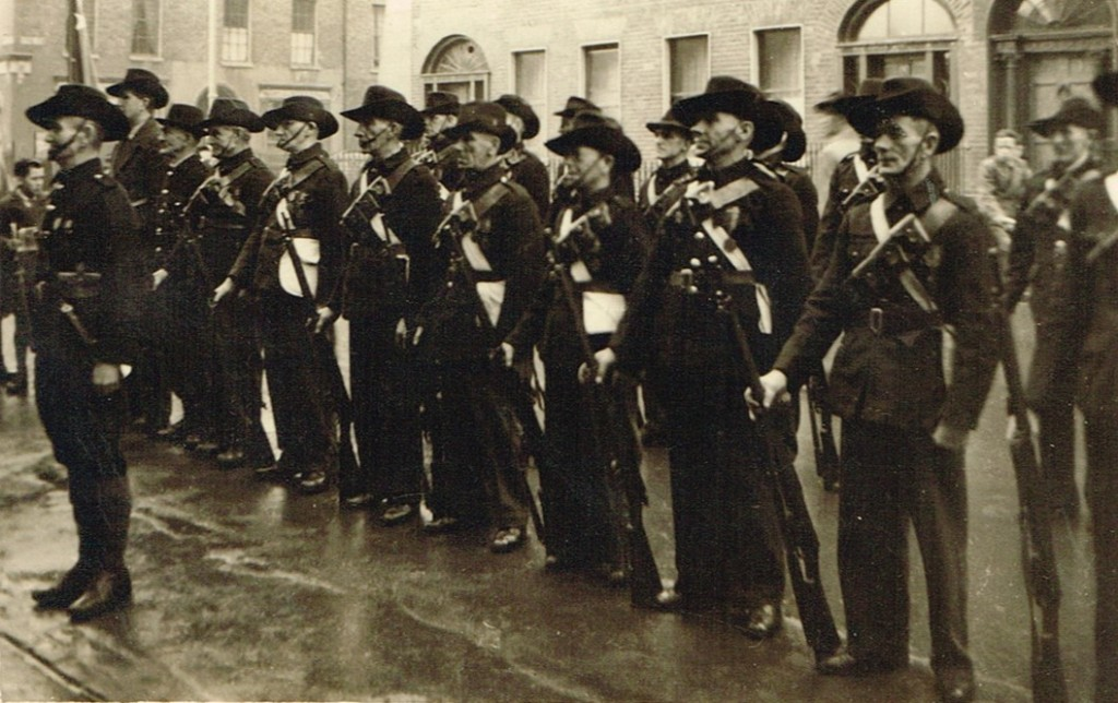In later years - Irish Citizen Army at Easter Rising commemoration