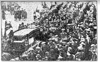 Tom 'Corky' Walsh funeral 1917