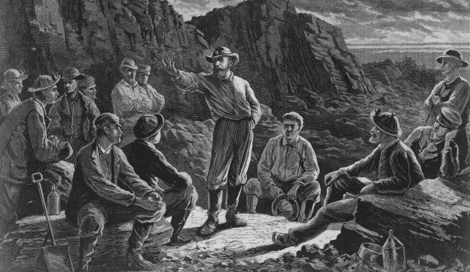 A meeting of the Molly Maguires