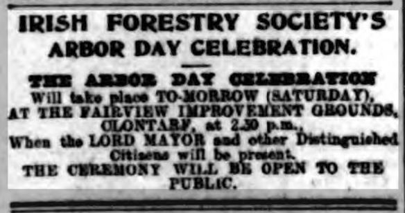 Advertisement for Arbor Day at Fairview 1908
