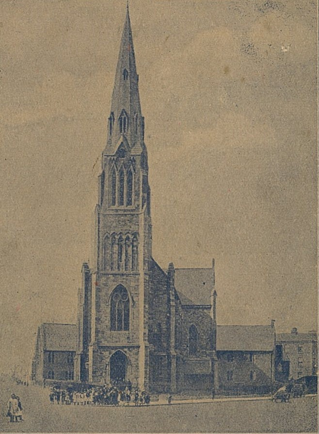 St Laurence O'Toole's , before the trees were planted.