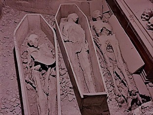 Mummified bodies at St. Mican's Church, Church Street.