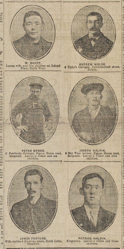 Some of the lost crew members (Evening Herald January 1918)