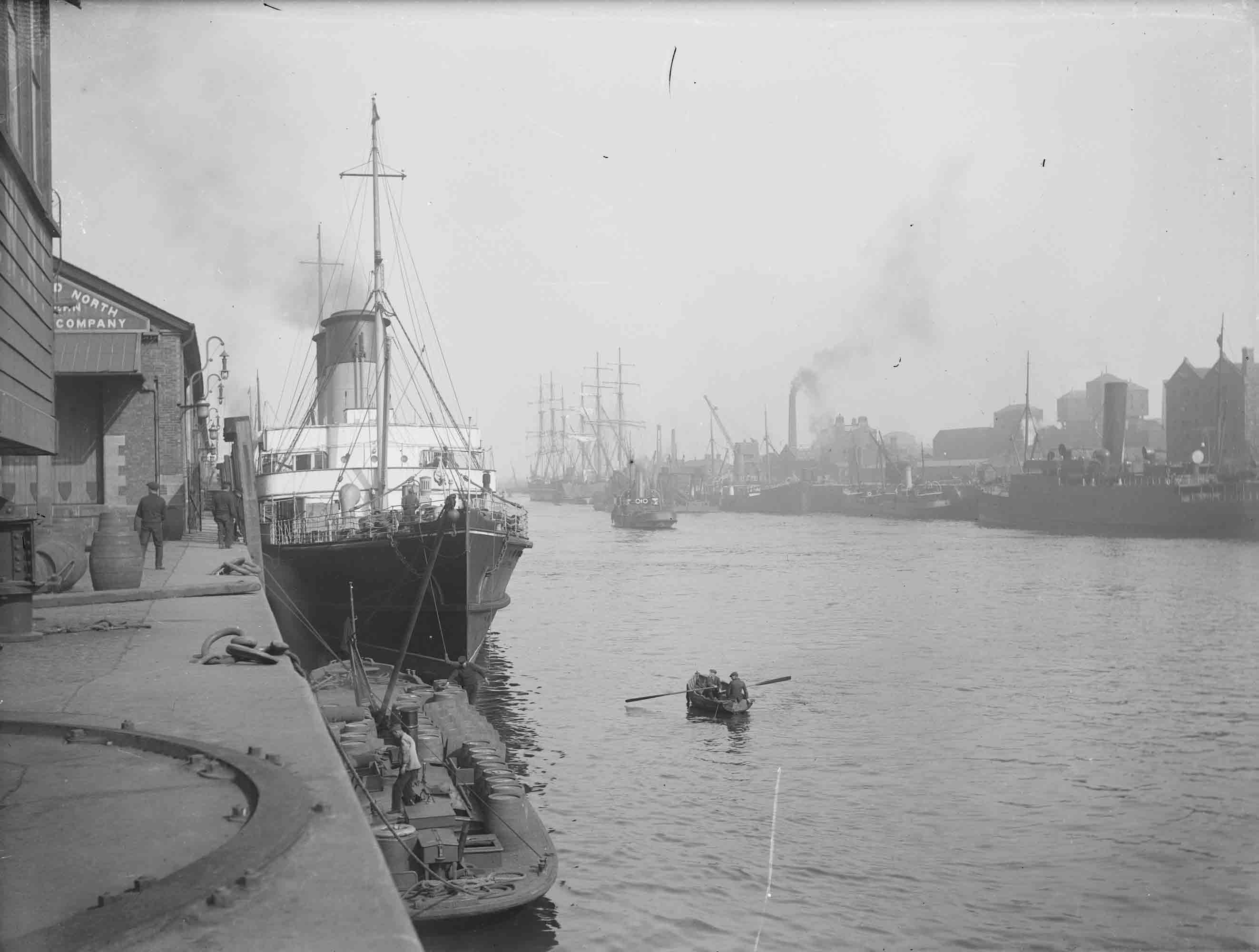 The final Berth of the SS Hare in Dublin Port was at North Wall Quay