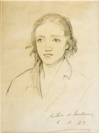 Molly Nugent sketched by Markievicz