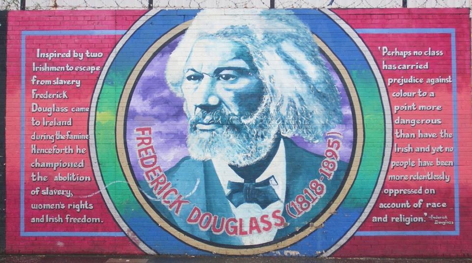 Frederick Douglas in Ireland , mural in Belfast