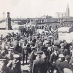 Troops at Spencer Dock 1914
