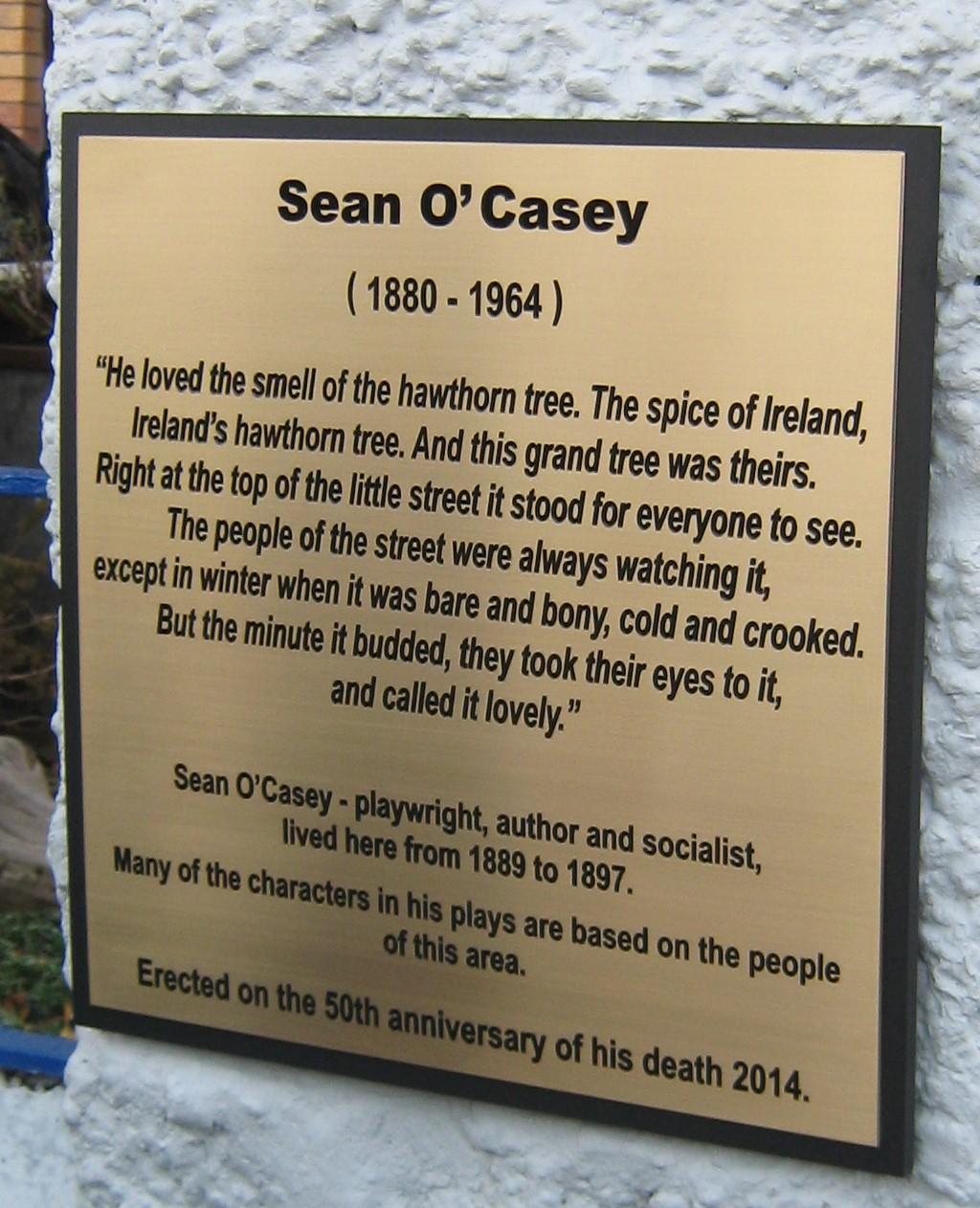 O'Casey plaque