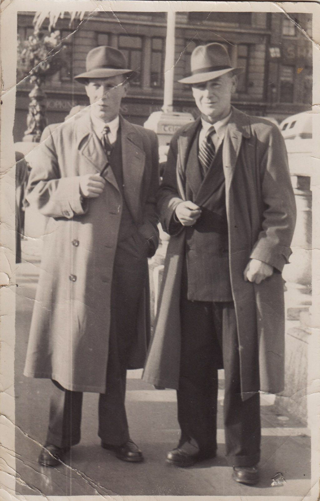 'Pa' and Bill Gannon on O'Connell Street 1954