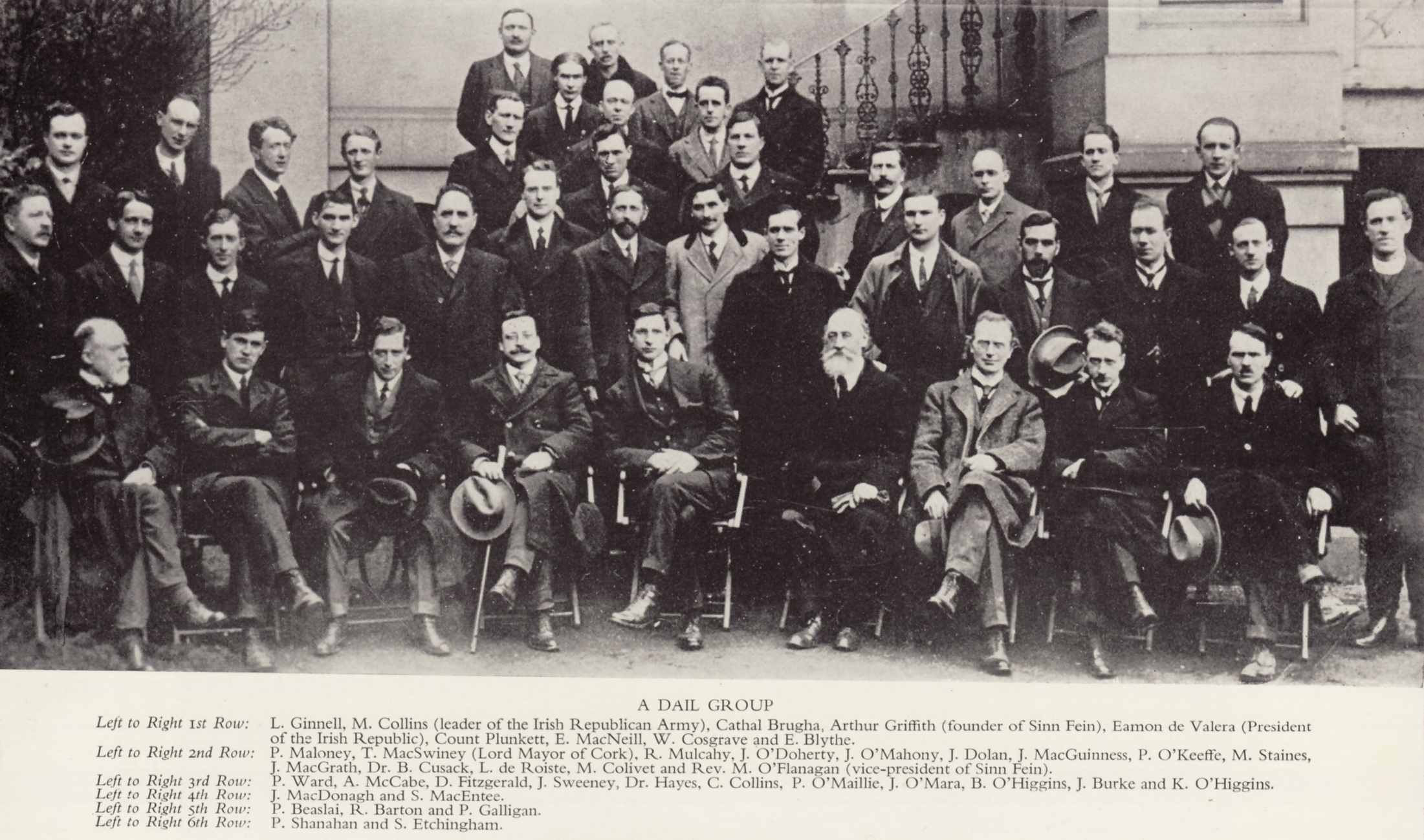 A more complete assembly of  Dáil Éireann in April 1919 , Phil Shanahan again in back row.