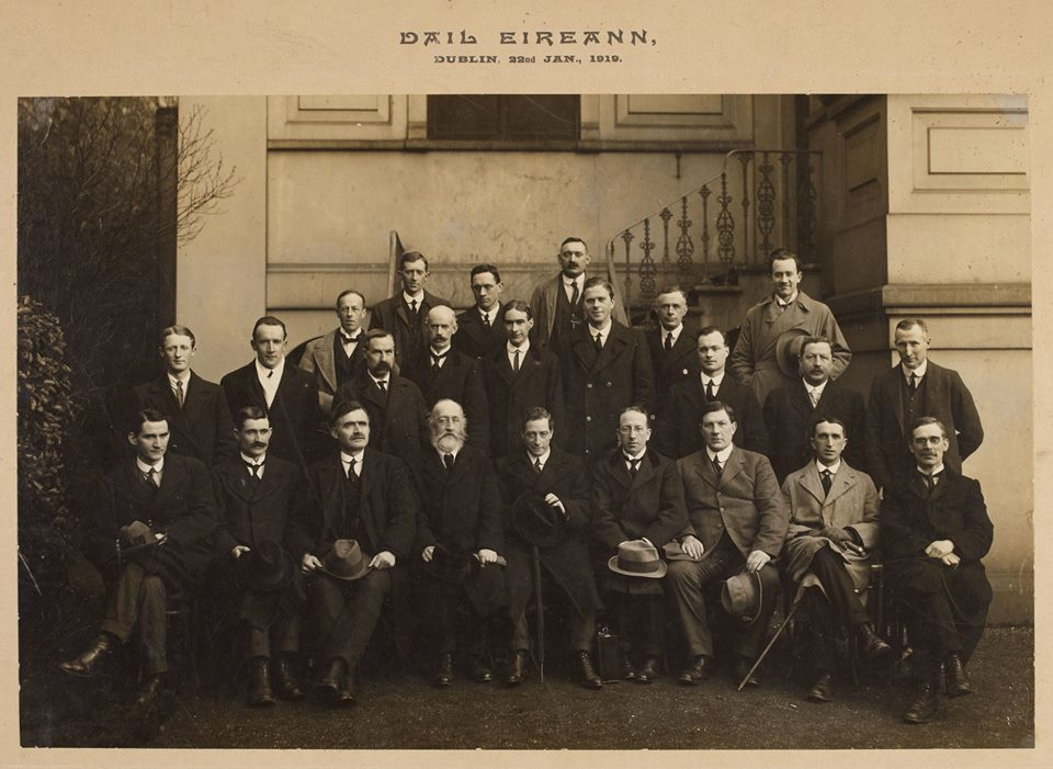 Photo taken at second session of Dáil Éireann , Phil Shanahan in back row.