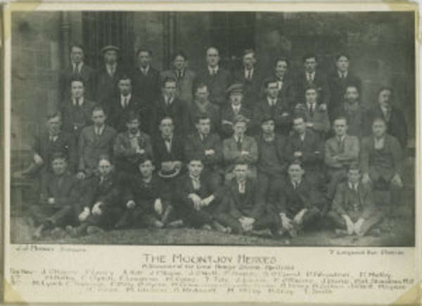A large group of 1920 Mountjoy hunger strikers , including Phil Shanahan.