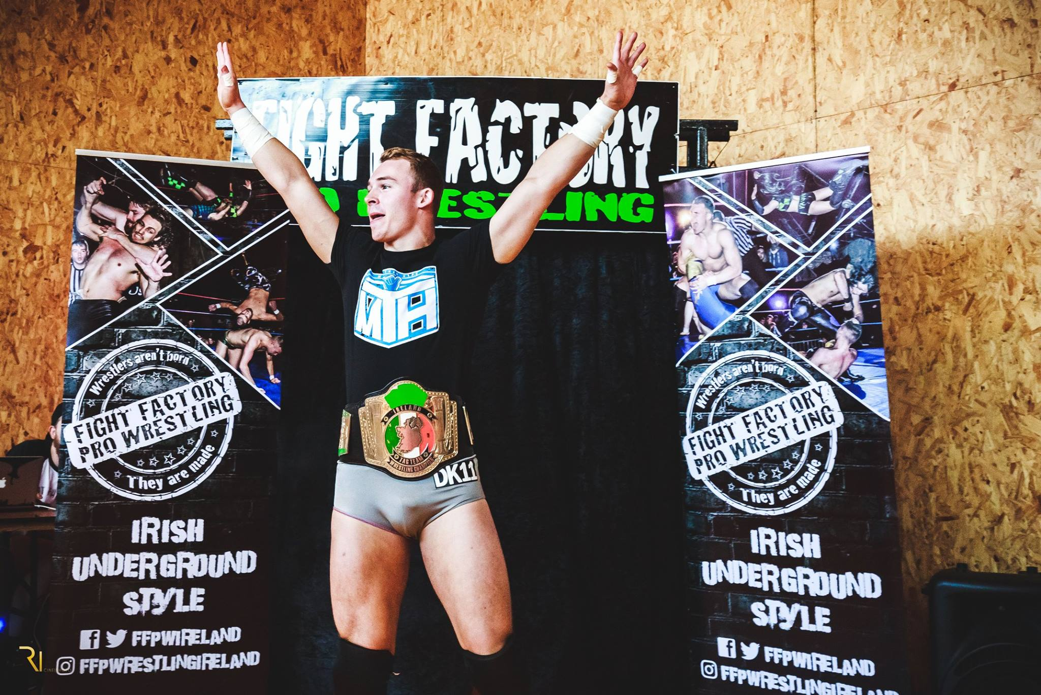 CHAMPION : East Walls own  Darren Kearney , one half of the Tag-Team  'More Than Hype'