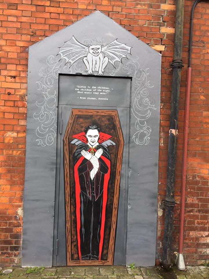 Dracula mural at Buckingham Street