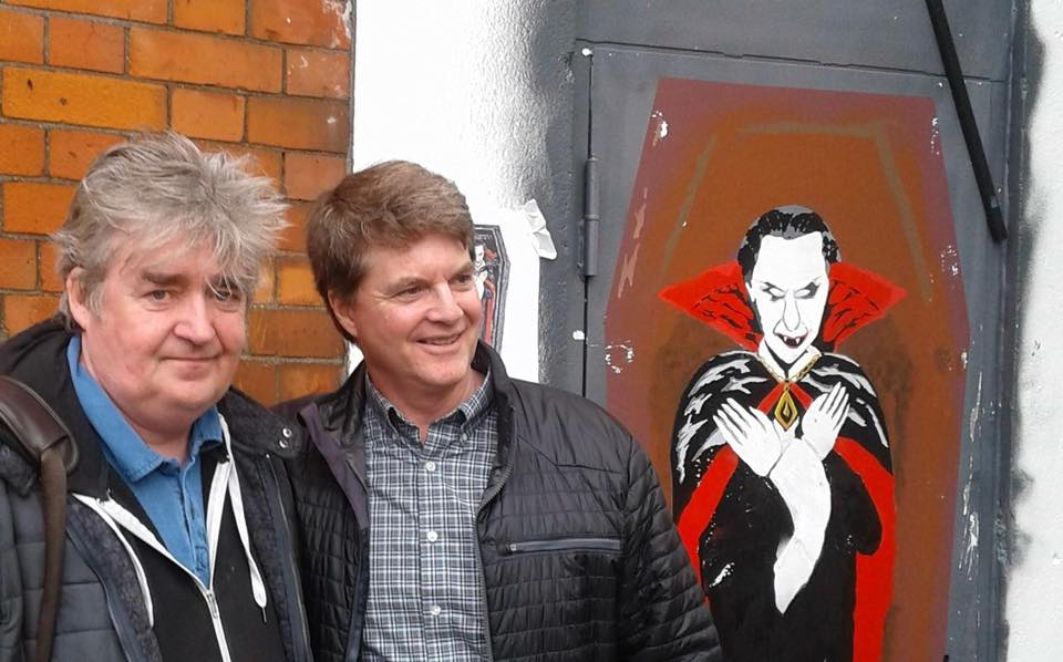 Hugo McGuinness  on Buckingham Street with Dacre Stoker , Grand-nephew of the Dracula author