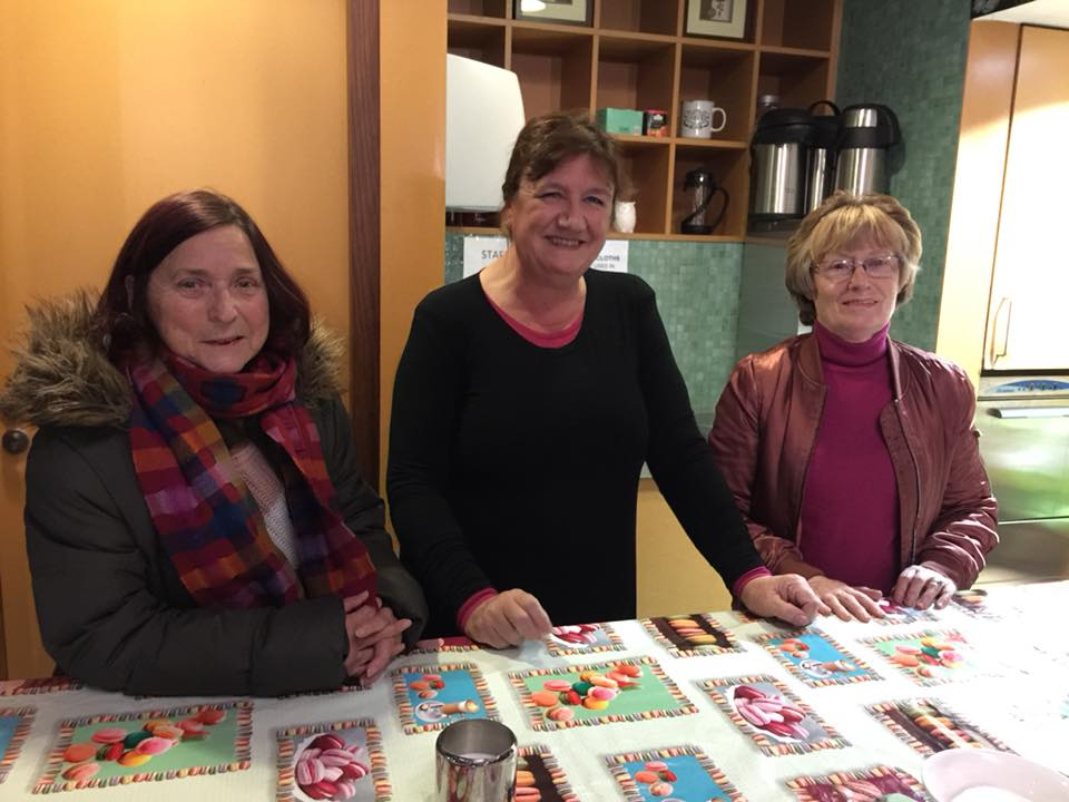 Mary Muldowney (centre) with members of the East Wall History Group)