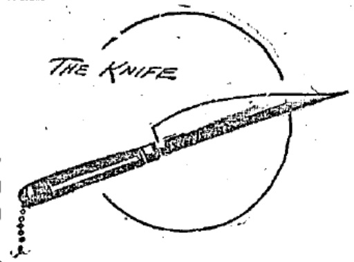 "An artist's impression of the ""Formidable"" Spanish knife."