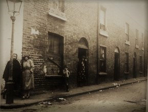 Women on Elliott Place in the notorious Monto red-light district