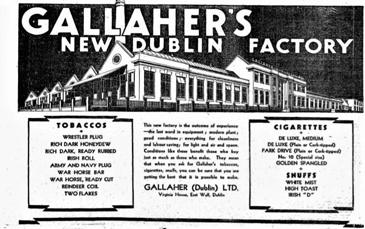 Gallaher's Newspaper Advertisement from February 1931.