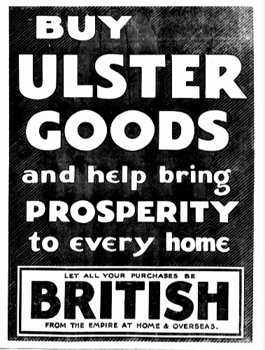 Buy Ulster Advertisement from 1932.